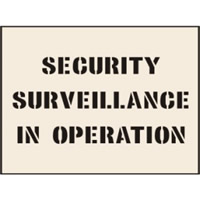 Security Surveillance� Stencil 190 x 300mm