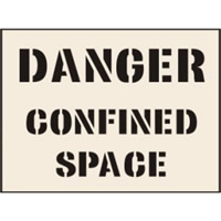 Danger Confined Space Stencil 600 x 800mm