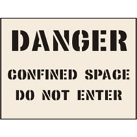 Danger Confined Space Do not enter Stencil 190 x 300mm