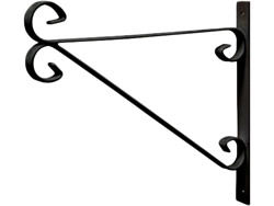 300 mm 12 inch Black Hanging Bracket Bracket