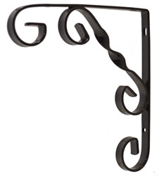 150 mm 6 inch Black Wrought Iron Scroll Bracket