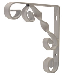 100 mm 4 inch White Wrought Iron Scroll Bracket