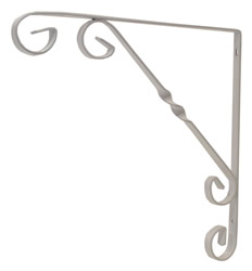 250 mm 10 inch White Wrought Iron Scroll Bracket