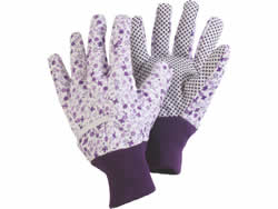 B2150 Ditzy Glove Lavender Cotton Medium