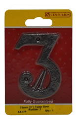 75 mm 3 inch Tudor Door Number 3