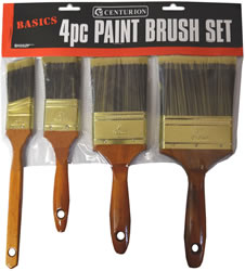 "4 piece American Style Synthetic Brush Set 1 1 / 2"""" 2"""" 3 inch and 4"""""""""