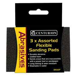 Fine Flexible Sanding Pads Packet of 3