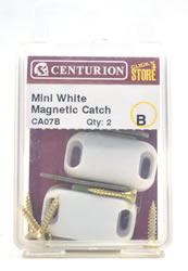 33 x 27 mm Zinc Plated Mini White Magnetic Catch Packet of 2