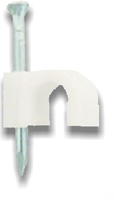 8 mm White Cable Clip