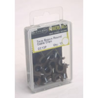 7 mm Brown Round Cable Clips Packet of 12