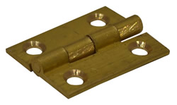 1 inch x 3 / 4 inch x 1.3 mm SC Medium Duty Solid Drawn Butt Hinges 1 pair