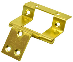16 mm 5 / 8 inch Electro Brass Double Cranked Flush Hinge 1 pair