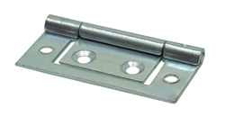 50 mm BZP Flush Hinges 1 pair
