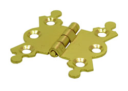 41 mm 1 5 / 8 inch Electro Brass Butterfly Hinge 1 pair