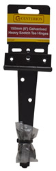 150 mm 6 inch Light Epoxy Black Tee Hinge 1 pair