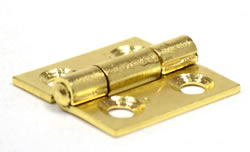 25 mm Electro Brass 1838 Pattern Steel Butt Hinge 1 pair