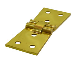 11 / 4 inch x 4 inch x 3 mm 1 / 8 inch Polished Brass Counterflap Hinge 1 pair