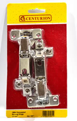35 mm Nickel Plated Sprung Concealed Hinges 165 degree 1 pair