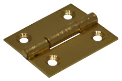 38 mm Electro Brass 1838 Pattern Steel Butt Hinge 1 pair