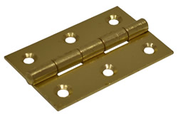 63 mm Electro Brass 1838 Pattern Steel Butt Hinge 1 pair