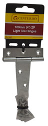 100 mm 4 inch Zinc Plated Light Tee Hinges 1 pair