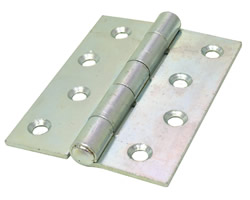 100 mm 4 inch Zinc Plated 451 Pattern Strong Steel Butt Hinges 1 pair