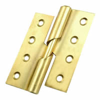 100 mm 4 inch Electro Brass Left Hand 466 Pattern Steel Rising Butt Hinges 1 pair