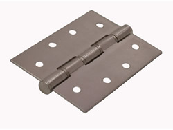 100 mm 4 inch x 75 mm 3 inch x 2 mm DSSW Washered Satin Butt Hinges 1 pair