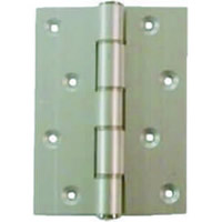 4 inch x 2 3 / 4 inch satin anodised aluminium Medium Duty Hinge 1 pair