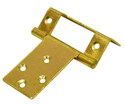 16 mm 5 / 8 inch Electro Brass Single Cranked Flush Hinge 1 pair
