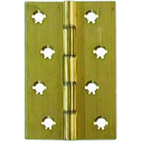 4 inch x 3 inch x 3.5 mm Polished Brass Medium Duty Solid Drawn Butt Hinges DSW 1 pair