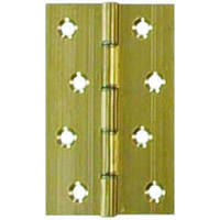 75 mm 3 inch x 50 mm 2 inch x 2.2 mm Polished Brass Medium Duty Solid Drawn Butt Hinges DPBW 1 pair