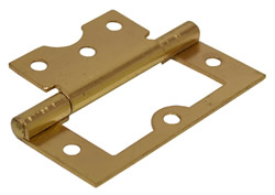 75 mm Electro Brass Flush Hinge 1 pair