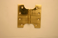 100 mm 4 inch x 50 mm 2 inch x 100 mm 4 inch x 4 mm 1 / 8 inch Polished Brass Parliament Hinge 1 pair