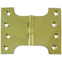 100 mm 4 inch x 100 mm 4 inch x 150 mm 6 inch x 4 mm 1 / 8 inch Polished Brass Parliament Hinge 1 pair
