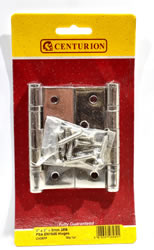 100 mm 4 inch x 75 mm 3 inch x 3 mm PSS 2BB Ball Bearing Hinges 1 pair