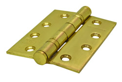 100 mm 4 inch x 75 mm 3 inch x 3 mm Electro Brass 2BB Ball Bearing Hinges 1 pair