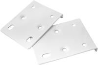 75 x 10 x 55 mm White Hinge Repair Plate Packet of 2