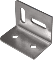 38 x 28 mm Zinc Plated Stretcher Plate sign