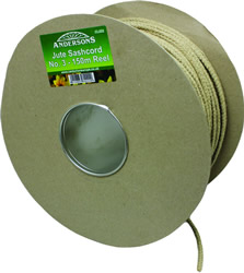 150m Reel x 5 mm No 3 Jute Sash Cord