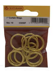 25 mm Electro Brass Curtain Rings Packet of 10