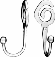 Satin Chrome Plated Swirl Tassel Hooks