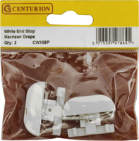White End Stop Harrison Drape Packet of 2