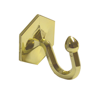 40 mm Brass Effect Self Adhesive Curtain Tassel Hook Packet of 2