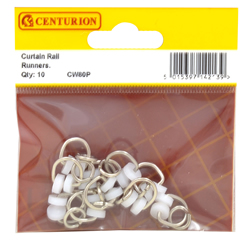 Curtain Rail Runners Packet of 10
