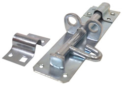 150 mm 6 inch Zinc Plated Brenton Padlock Bolt 2A Pattern