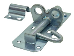 100 mm 4 inch Zinc Plated Brenton Padlock Bolt 2A Pattern