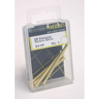 M3.5 x 50 mm Electro Brass Electrical Screws Packet of 4