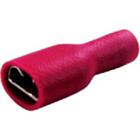 6.3 mm Red Female Insulated Push-Ons Packet of 10