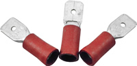 6.3 mm x 0.8 mm Red Male Insulated Push-Ons Packet of 10